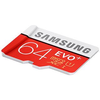 Samsung 64GB EVO Plus Class 10 80mb/s Micro SDXC with Adapter