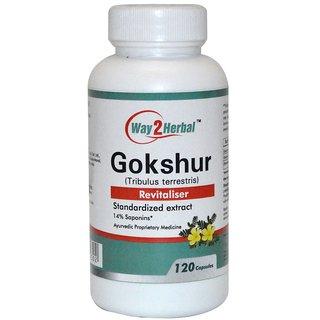 Way2Herbal Gokshur 120 capsules