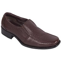 Floxtar Men Brown Slip On Formal Shoes