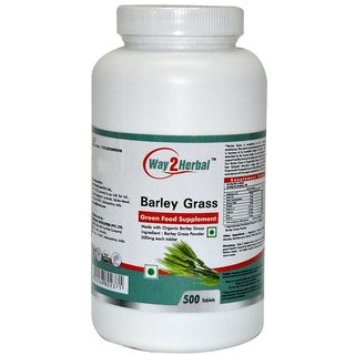 Way2Herbal Barley  Grass 500 Tablets