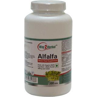 Way2Herbal Alfalfa 500 Tablets