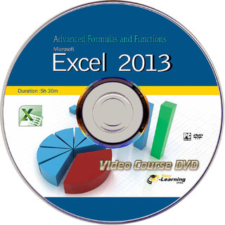Learn Advanced Formulas and Functions On Excel 2013 Video Course DVD