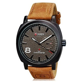 curren Brown  fashion watch for men