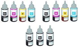 green compatible ink 2 sets with 3 pcs black free for epson l100/l200/l220/l210 ciss printers
