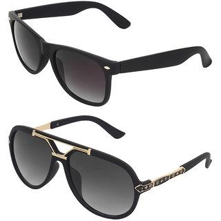 Zyaden Combo of two Sunglasses Rectangular  Wayfarer Sunglasses 408