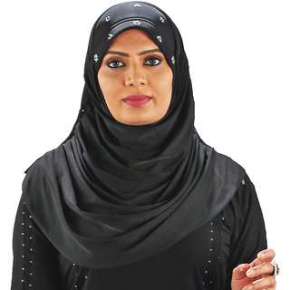 Parvin Ria108 Black Hijab