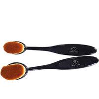 Looks United Makeup Powder Concealer Oval Blending Foundation Brush ( Pack of 2 )
