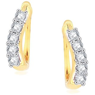 Asmi Diamond Earrings ADE00666SI-JK18Y