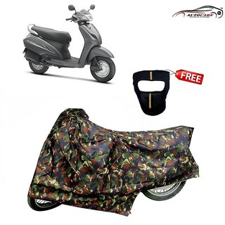De AutoCare Premium Junglee Matty Two Wheeler Scooty Body Cover For Honda Activa With Freebie Face Mask