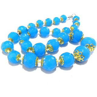 Beadworks Crystal Beaded Necklace for All Occasion in Turquoise Colour