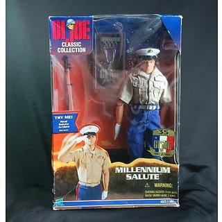 GI Joe MILLENNIUM SALUTE 12 Inch Marine Action Figure (1999 Hasbro)