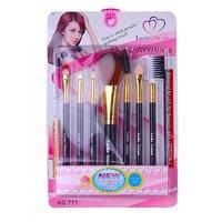 Looks United 7 PCs High Quality Cosmetics Makeup Brush Set.