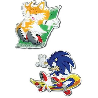 Sonic The Hedgehog Pins- Sonic And Tails (Set Of 2)