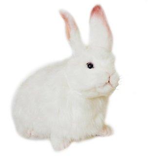 Hansa Snow Rabbit Stuffed Plush Animal