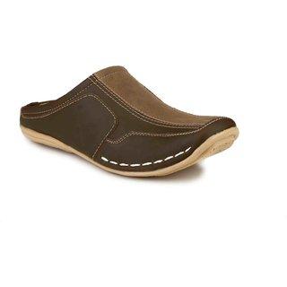 Lee Peeter Men's Brown Slip on Sandals