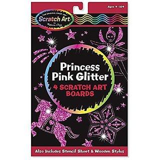 Melissa &Amp; Doug Scratch Art Magic Princess Pink Glitter Board, Multi Color