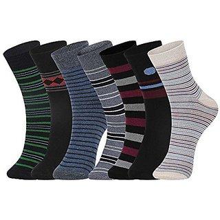 DUKK Men'S Multicoloured Ankle Length Cotton Lycra Socks (Pack Of 7)