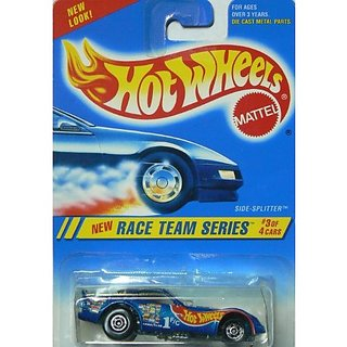 Race Team Series #3 Side-Splitter Basic Wheels Metalflake Blue #277 Collectible Collector Car Mattel