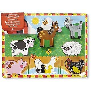 Melissa &Amp; Doug Farm Chunky Puzzle