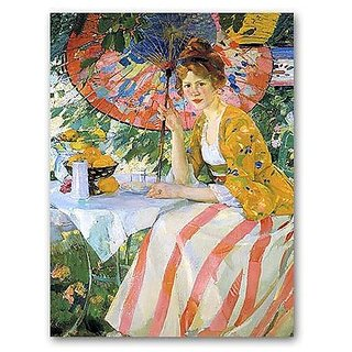 Young Lady With Parasol - Masterpiece Jigsaw Puzzle 500pc