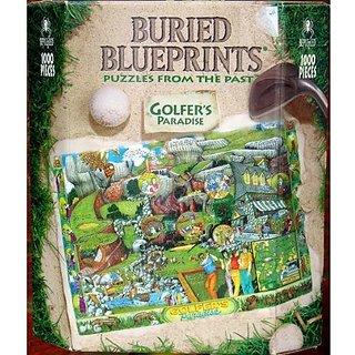 Buried Blueprints 1000-Piece Jigsaw Puzzle: Golfers Paradise
