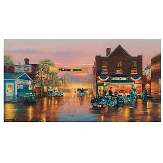 Dave Barnhouse Small Town Big Welcome Jigsaw Puzzle 500pc