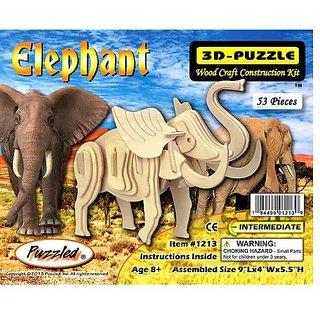 Puzzled - 3D Natural Wood Puzzles - LITTLE ELEPHANT (53 Pieces)