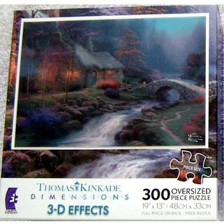 Wondrous Thomas Kinkade 3 D Puzzle Twilight Cottage 300 Pieces Home Interior And Landscaping Ologienasavecom
