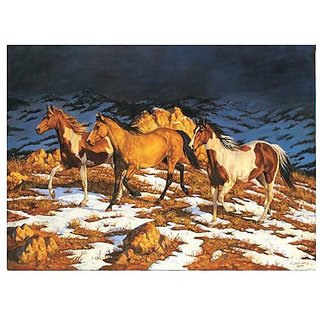 Chris Cummings Horses Approaching Storm Jigsaw Puzzle 1500pc