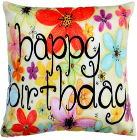 Welhouse Happy Birthday print cushion cover VLCU-017