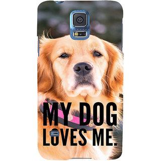 Ifasho Designer Back Case Cover For Samsung Galaxy S5 Mini :: Samsung Galaxy S5 Mini Duos :: Samsung Galaxy S5 Mini Duos G80 0H/Ds :: Samsung Galaxy S5 Mini G800F G800A G800Hq G800H G800M G800R4 G800Y (Kutta Puppy Pooch Bitch)