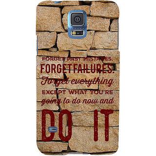 Ifasho Designer Back Case Cover For Samsung Galaxy S5 Mini :: Samsung Galaxy S5 Mini Duos :: Samsung Galaxy S5 Mini Duos G80 0H/Ds :: Samsung Galaxy S5 Mini G800F G800A G800Hq G800H G800M G800R4 G800Y (Forget Past Mistakes Let Slip )