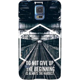 Ifasho Designer Back Case Cover For Samsung Galaxy S5 Mini :: Samsung Galaxy S5 Mini Duos :: Samsung Galaxy S5 Mini Duos G80 0H/Ds :: Samsung Galaxy S5 Mini G800F G800A G800Hq G800H G800M G800R4 G800Y (Beginning Is Always Hardest )