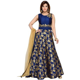 VSP Navy Blue  Floral Choli Lehenga For Women
