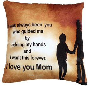 Welhouse forever I love u Mom printed design cushion cover VLCU-026
