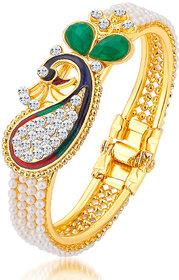 Sukkhi Gold Plated Gold Alloy Kadas for Women