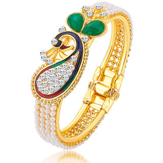 Sukkhi Gold Plated Gold Alloy Kadas for Women