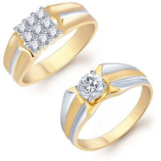 Sukkhi Blossomy 2 Piece Ring Combo for Men