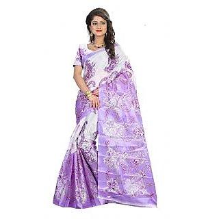 SVB Saree Purple Bhagalpuri Silk Saree