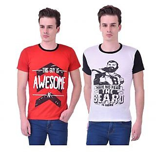 Stylogue Trendy Printed TShirts For Men Pack Of 2