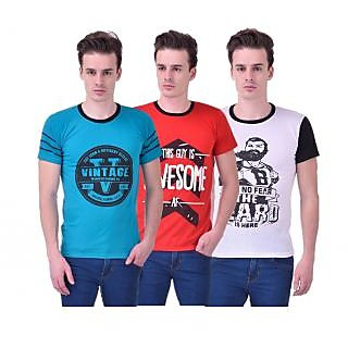 Stylogue Trendy Printed TShirts For Men Pack Of 3