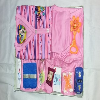 Born baby gift set pink
