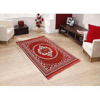 Buy BSB Trendz Velvet Touch Abstract Chenille Carpet 7X5 Feet Online @ ₹1499 from ShopClues