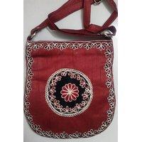 Silk Bag With Aari Design Work