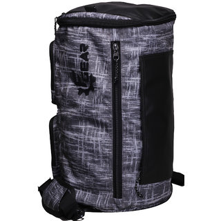 F Gear Xtreme 37 Liters Duffle cum Backpack (Black Grey)
