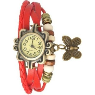 M K Trading Red Dori Analoge Watch For Girl by japan