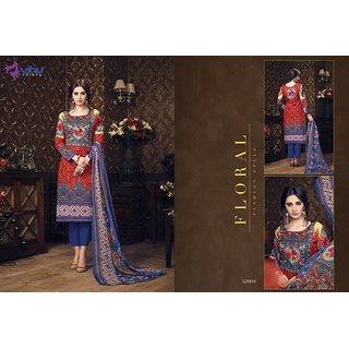 Lifestyle Manglam Women's Cotton Printed Regular Wear Salwar Suit