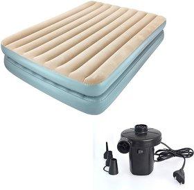 IBS QUEST COMFORT BESTWAY DOUBLE Inflatable Bed 2 PERSON(Grey,Beige)