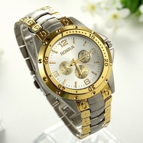 i DIVA'S LIFE STYLE Mens watch Rosra Golden Sillver with silver Dial