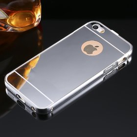 LUXURY PREMIUM QUALITY MIRROR BACK COVER FOR  IPHONE 5 SILVER